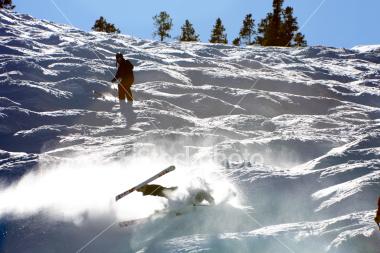 mogul-skiing